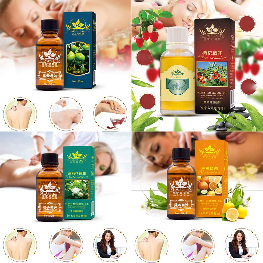 Jinjin Essential Oil, Natural Pure Essential Relax Therapeutic Body Massage Oil With Best Essential Oils (C)