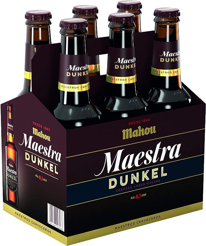 Mahou - Maestra Dunkel Cerveza Lager Oscura, 6.1% de Volumen de Alcohol - Pack de 6 x 33 cl: Amazon.es: Alimentación y bebidas