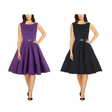 0e1462a627f48f Original Audrey Hepburn Stil Vintage Rockabilly Wedding Evening Prom Kleid:  Amazon.de: Bekleidung