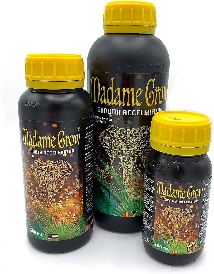 MADAME GROW / Fertilizante o abono orgánico para Plantas, estimula y Potencia raíz y Crecimiento de Manera sobredimensionada – Superconcentrado - Growth Accelerator (250 ml)