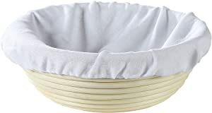 Frieling USA Brotform Round Bread Rising Basket and Liner, 8.5-Inch