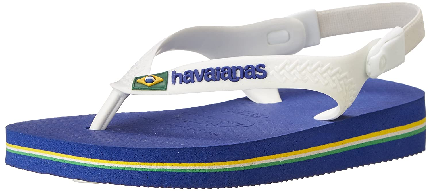 f5b4f93a85889 Havaianas Baby Brazil Logo Sandal Green Flip Flop with Backstrap (Toddler)   Amazon.in  Shoes   Handbags