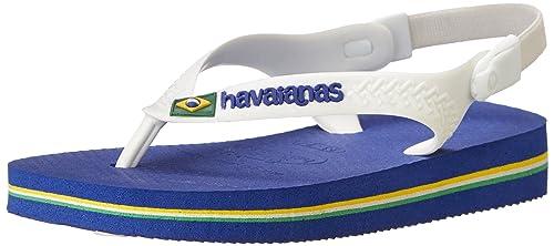 60ebcd947 Havaianas Baby Brazil Logo Sandal Green Flip Flop with Backstrap (Toddler)   Amazon.in  Shoes   Handbags