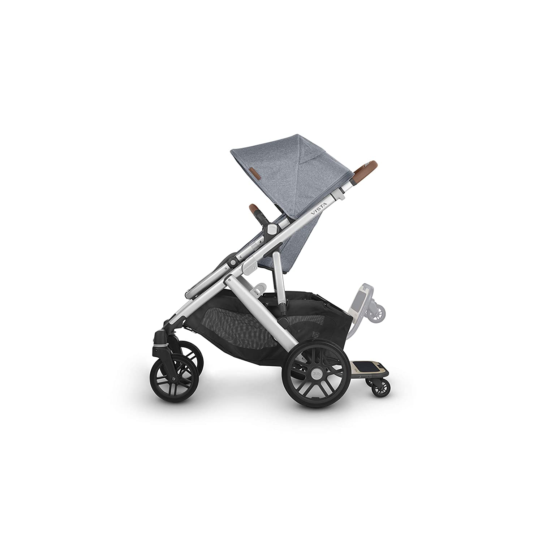 + Piggyback for Vista /& Vista V2 UPPAbaby Vista V2 Stroller Bryce White Marl//Silver//Chestnut Leather