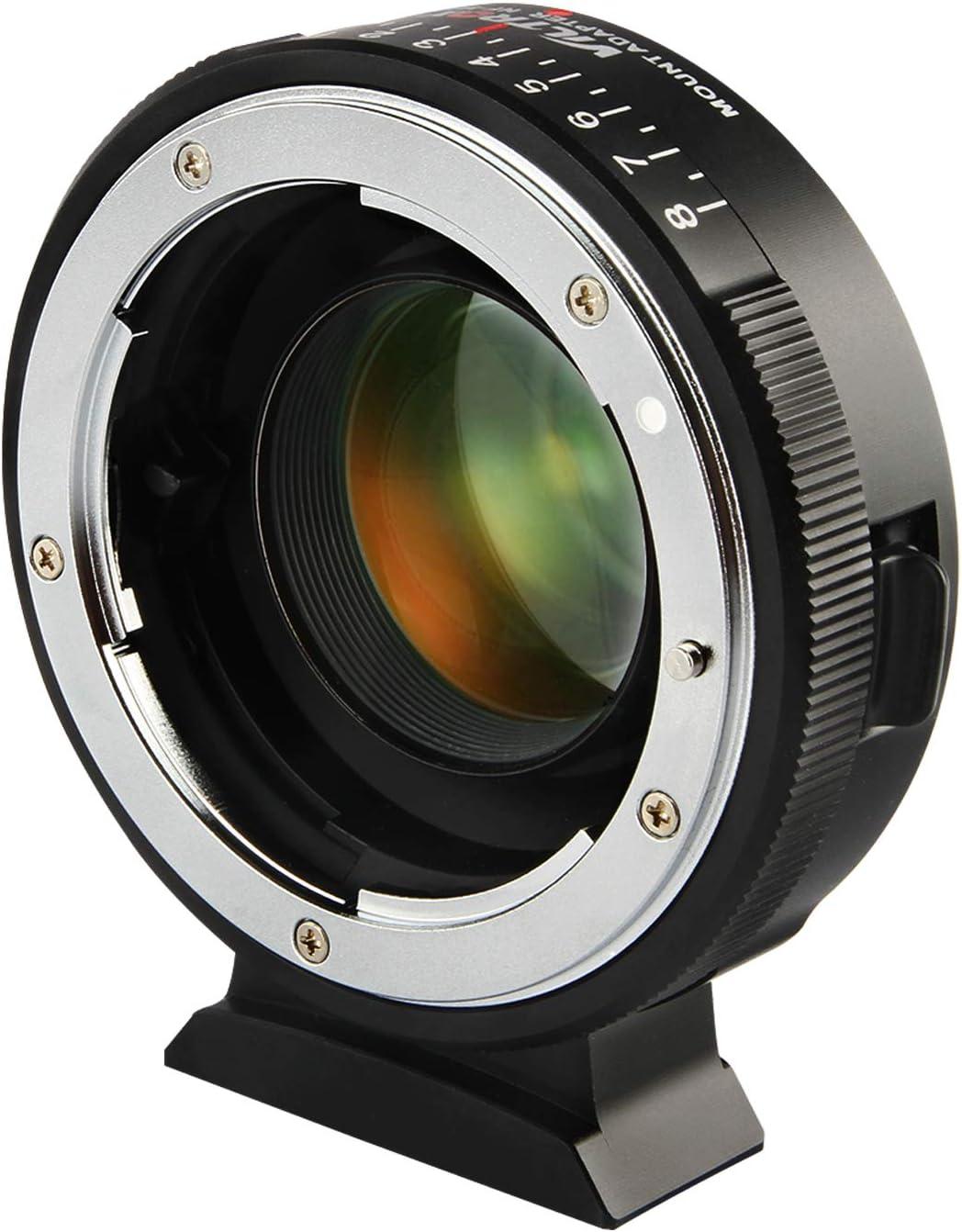 Viltrox NF-M43X Manual Focus 0.71x Reducer Speed Booster Lens Mount Adapter w//Aperture Control for Nikon G D Lens to M4//3 Mirrorless Camera GH5 GH4 GF9 GX85 GX8 E-M5 E-M10 E-PL3 Pen-F BMPCC