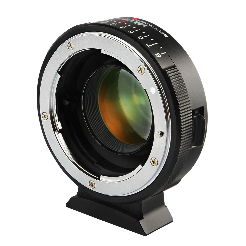 Viltrox NF-M43X Manual Focus 0.71x Reducer Speed Booster Lens Mount Adapter w/Aperture Control for Nikon G D Lens to M4/3 Mirrorless Camera GH5 GH4 GF9 GX85 GX8 E-M5 E-M10 E-PL3 Pen-F BMPCC