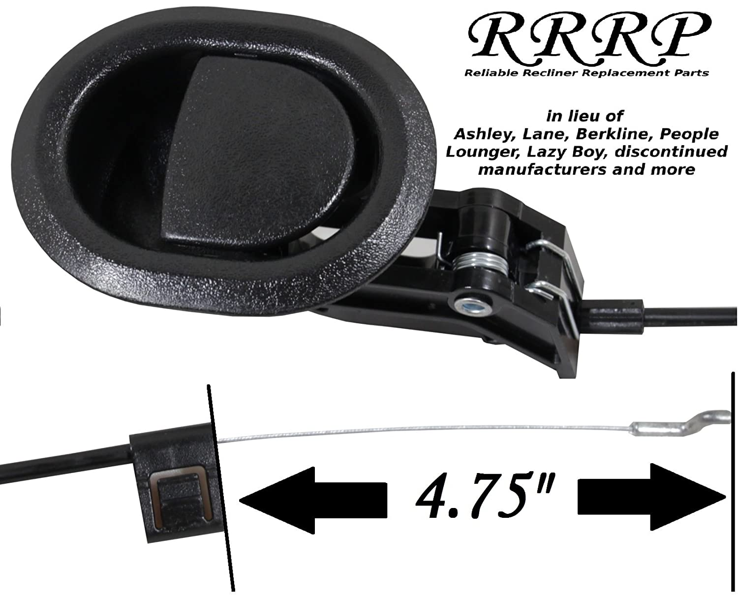 Amazon.com Reliable Recliner Replacement Parts - Complete Universal Small Oval Black Plastic Pull Recliner Handle 3  by 3.5  with Cable and S / Z Hook ...  sc 1 st  Amazon.com & Amazon.com: Reliable Recliner Replacement Parts - Complete ... islam-shia.org