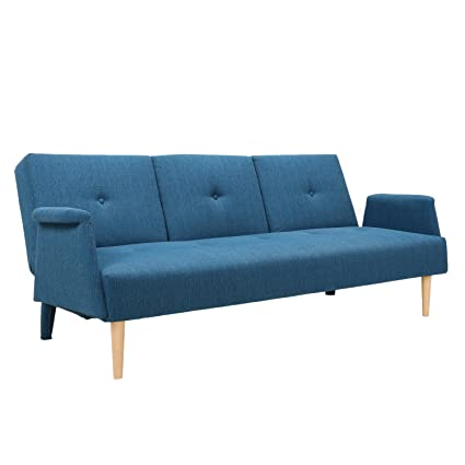 Adeco Fabric Fiber Sofa Bed Sofabed Lounge With Arm, Soft Cushion, Living  Room Seat