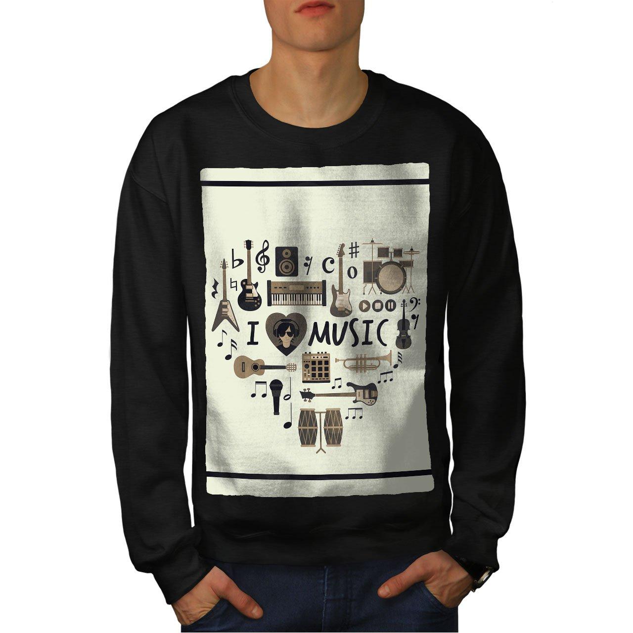 Melody Casual Jumper wellcoda I Love Drums Jazz Mens Sweatshirt