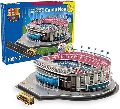 Estadio Camp NOU (FC Barcelona) - Nanostad - Puzzle 3D (Producto Oficial Licenciado): Amazon.es: Juguetes y juegos