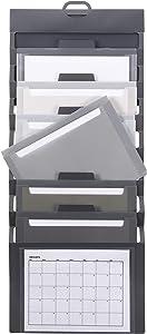 Smead Cascading Wall Organizer, 6 Pockets, Letter Size, Gray/Neutral Pockets (92061)