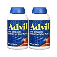 Advil Tablets ( Ibuprofen ), 200 mg, 300 Coated Tablets, Pack of 2