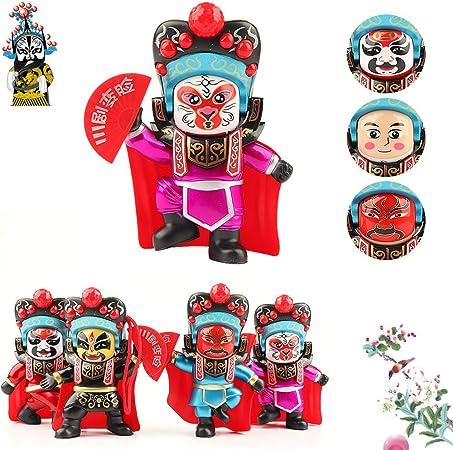 Lily Características del Estilo Chino Muñeca de Cambio de Cara de ópera de Sichuan, muñeca de Cambio de Cara, Regalo conmemorativo de la colección de Entretenimiento 4 Pack: Amazon.es: Hogar