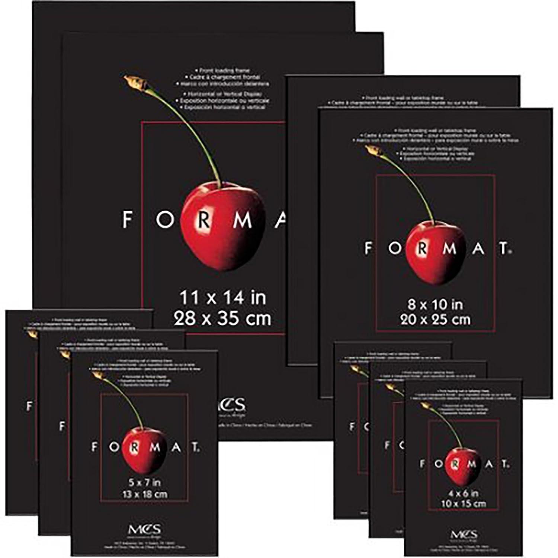 MCS 10 Piece Format Frame Set, Assorted Sizes, Black (25570) MCS Industries