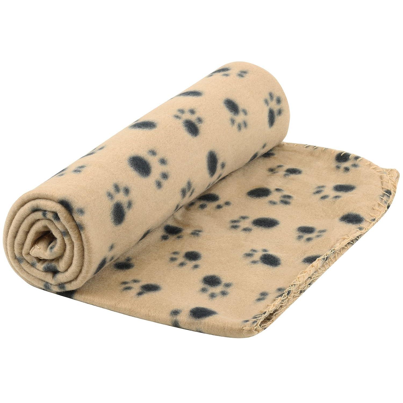 Me & My Pets Large Fleece Paw Print Blanket - 140 x 100cm - Choice Of Colour