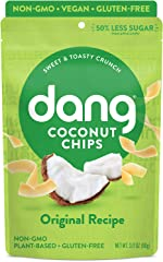 Dang Toasted Coconut Chips | Original | 1 Pack | Vegan, Gluten Free, Non GMO, Healthy Snacks Made with Whole Foods | 3.17 Oz