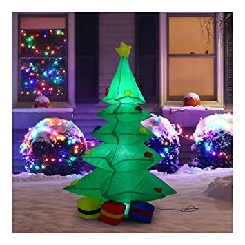Amazon Com 4 Inflatable Christmas Tree Presents Airblown