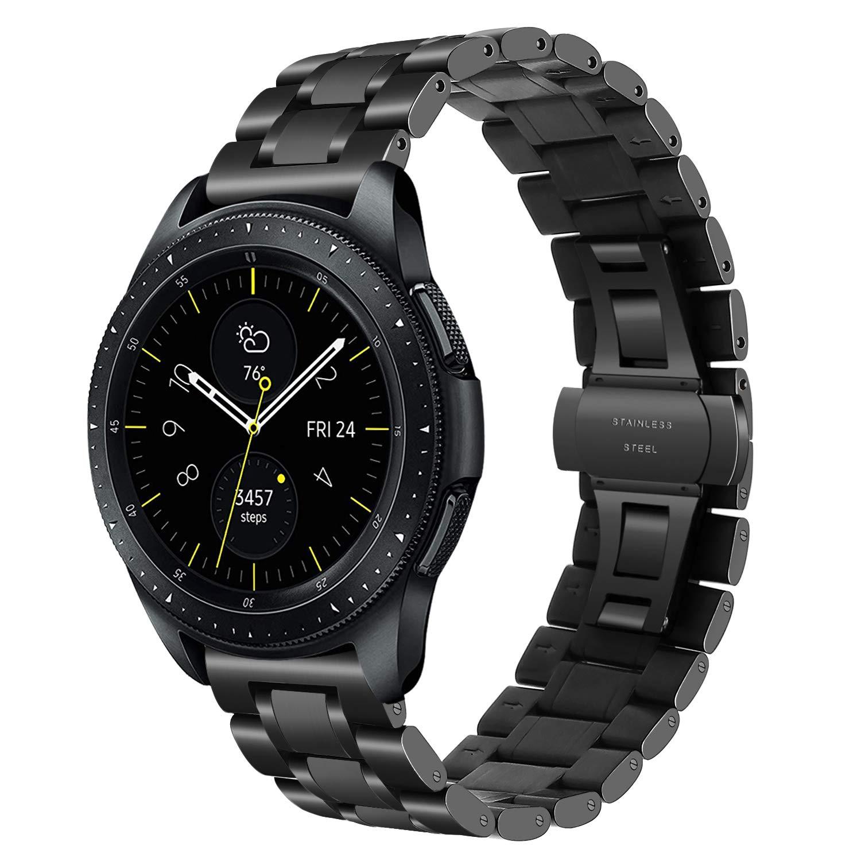 TRUMiRR 20mm Acero Inoxidable de Liberación Rápida Banda Banda de Hebilla de Mariposa para Garmin Vivoactive 3, Huawei Watch 2 (Sport), Samsung Gear ...