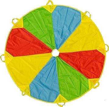 Bunt Fallschirm Parachutes Spielzeug 1.8m Schwungtuch für Kinder und Familie