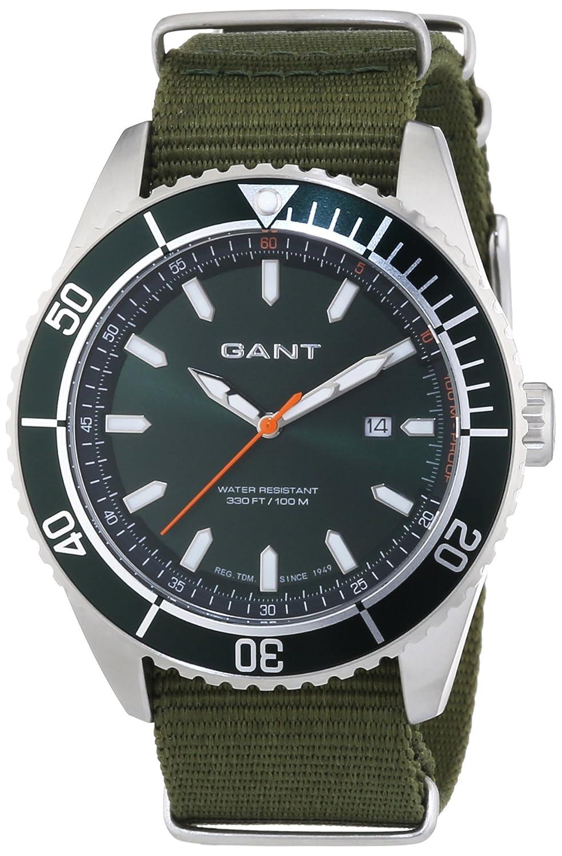 GANT Seabrook Military - Reloj Analógico de Cuarzo para Hombre, Correa de Nailon Color Verde