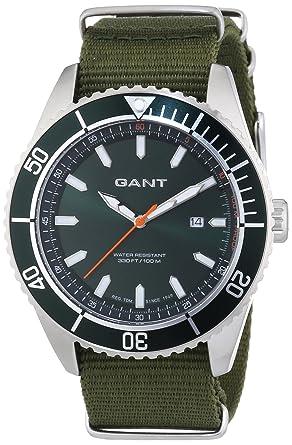 GANT SEABROOK MILITARY - Reloj Analógico de Cuarzo para Hombre, correa de Nailon color Verde: Amazon.es: Relojes