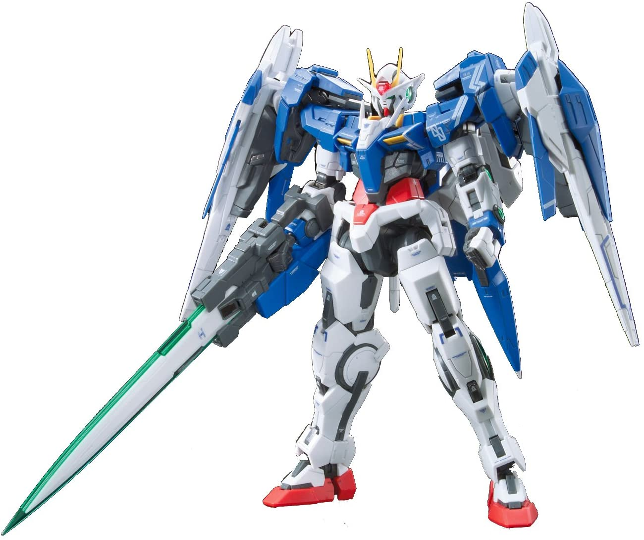 "Bandai Hobby Real Grade 1/144-Scale 00 Raiser Gundam 00"" Action Figure"
