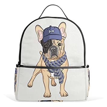 Amazoncom Backpack Dog With A Hat School Bag Kids Backpacks For