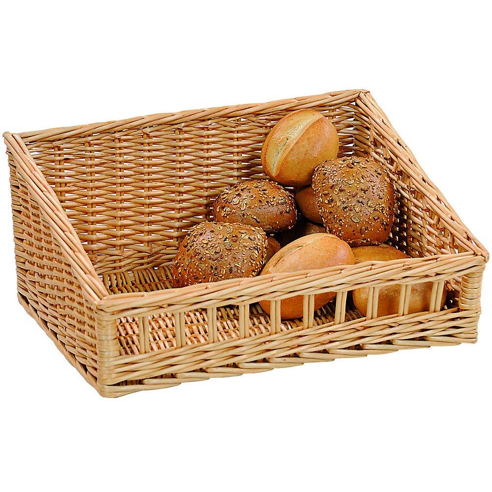 Kesper 19600 Bread basket 15.75'' x 11.81'' x 3.94'' of willow, Brown