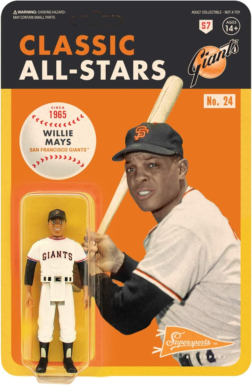 N Willie Mays Giants de San Francisco Super 7 Reaction All-Stars ACTION FIGURE NEW