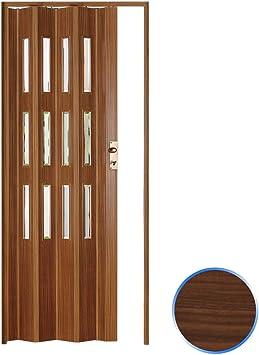 Forte Puerta Plegable de Interior de PVC 88,5x214 cm Nuez Claro ...