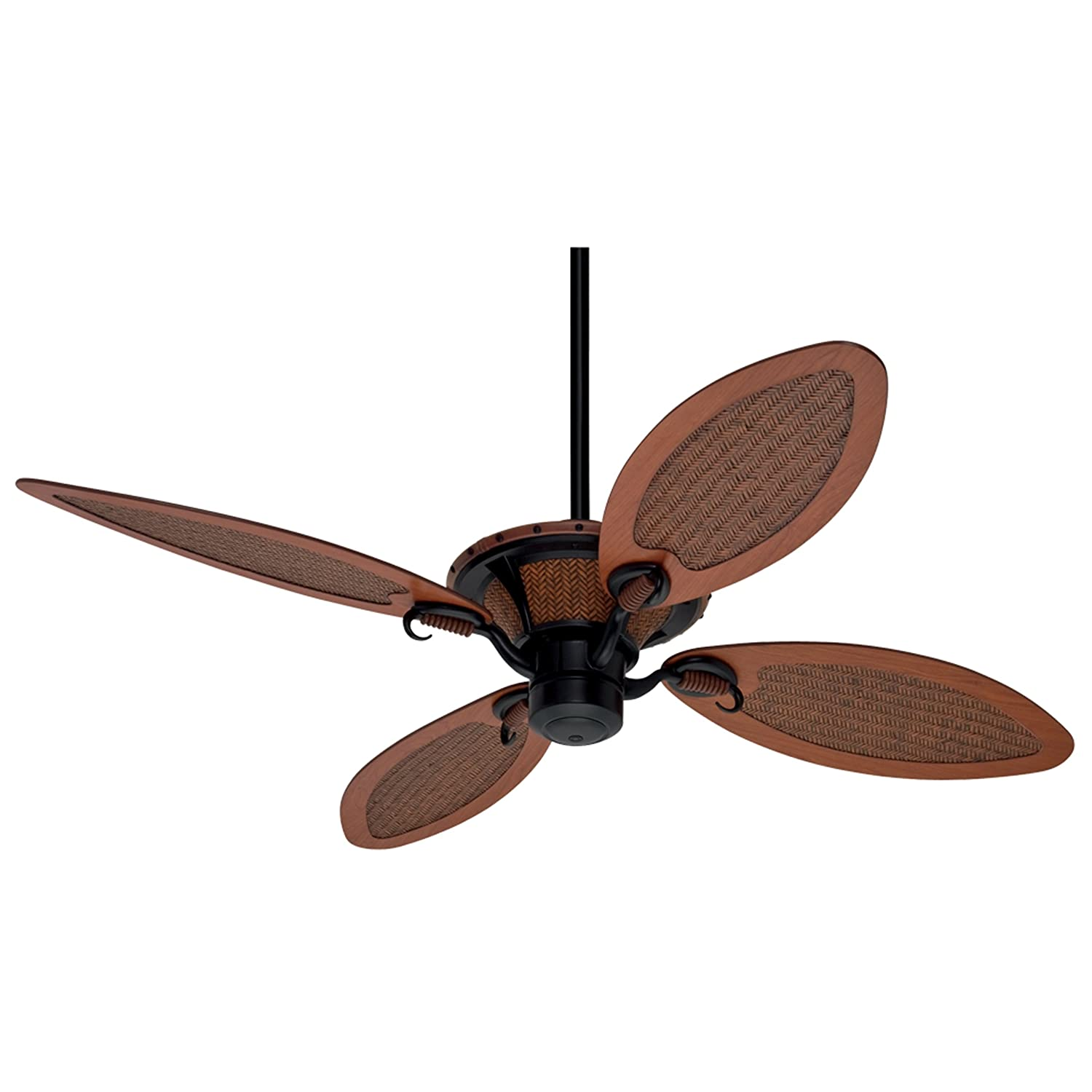 Hunter Royal Palm 56 Inch Ceiling Fan with 4 Cherry Rattan