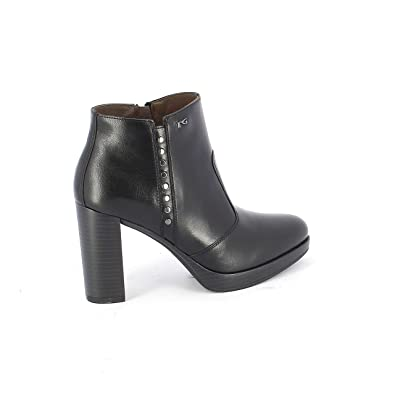 Image Unavailable. Image not available for. Color  Nero Giardini Women s  A806322d100 Black Leather Ankle Boots e38f8fb21ea