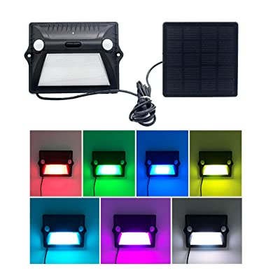 DiDi DENG Solar Lights Outdoor Color Change Waterproof Dual Motion Sensor Security Wired Led Landscape for Yard Deck Patio Garden Garage Auto on/Off