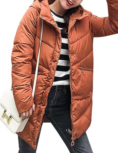 Abrigo largo de invierno para las Mujeres, Abrigo estilo medio engrosada algodón, acolchado ropa con capucha: Amazon.es: Ropa y accesorios