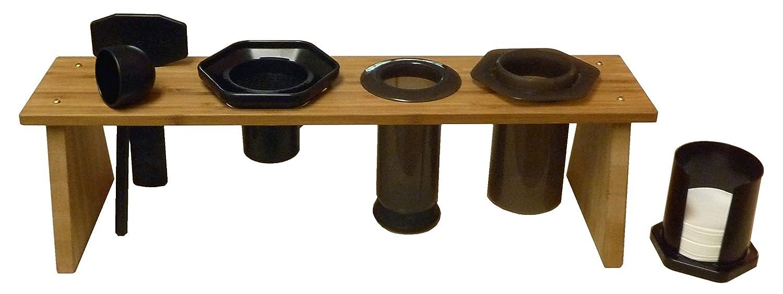 Bamboo Caddy Rack for AeroPress Coffee Maker Purple Paper Moon PPM-APCR-1