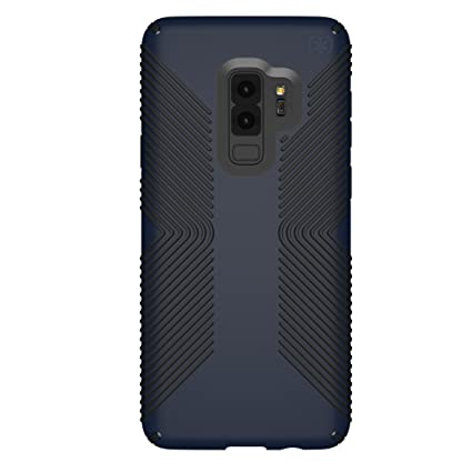 Speck Presidio Grip Samsung Galaxy S9 Plus Case, Eclipse Blue/Carbon Black