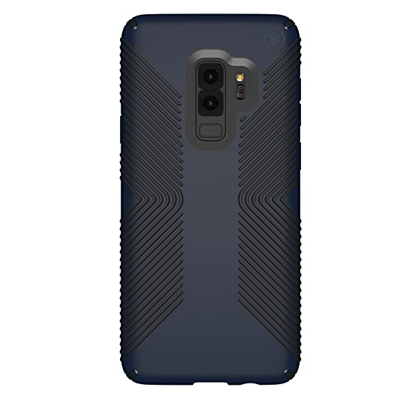 finest selection f212a 7227f Speck Presidio Grip Samsung Galaxy S9 Plus Case, Eclipse Blue/Carbon Black