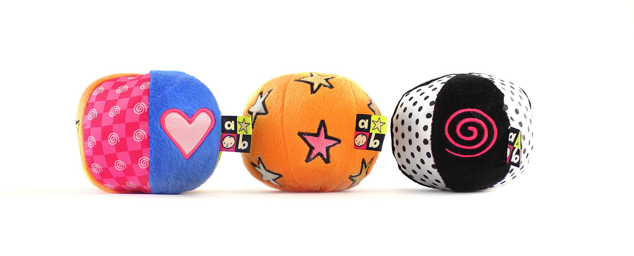 Amazing Baby Chime, Jingle, Crinkle Sound Balls, 4''