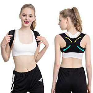 Posture Corrector for Men and Women-Adjustable Shoulder Posture Supporter-Used for Thoracic kyphosis deformity and Provides Shoulder-Neck Pain Relief (Universal)