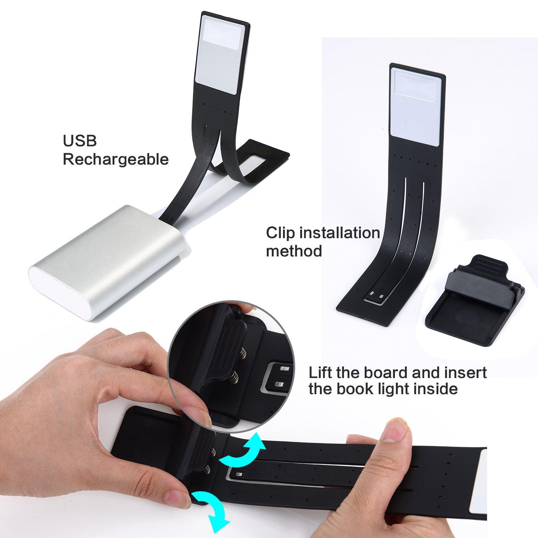book light 4 grade adjustable brightness hotop multifunctional