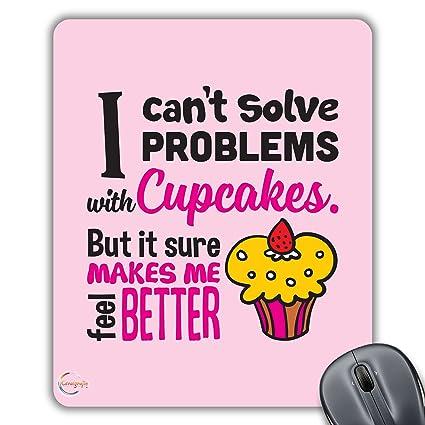 cp483 I no puede resolver problemas con cupcakes regalo impreso PC portátil ordenador alfombrilla de ratón