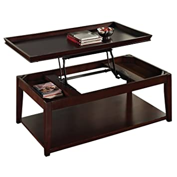 Steve Silver Company Clemson Lift Top Cocktail Table With Casters