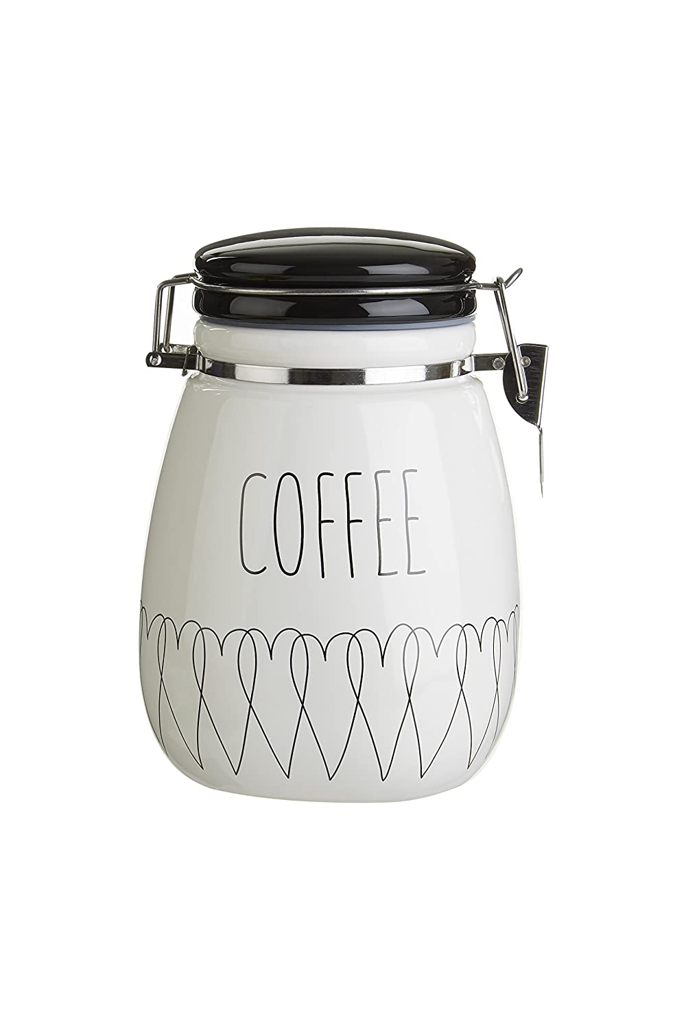 Premier Housewares Heartlines Coffee Canister, Dolomite - White by Premier Housewares 0722915