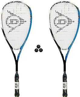 Lot de 2 raquettes de Squash Dunlop C-Max de Squash 3 balles RRP £ 415