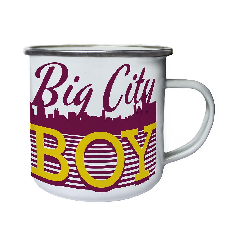 chico de la gran ciudad Retro, lata, taza del esmalte 10oz/280ml cc469e INNOGLEN