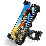 TBONEEY Soporte Celular Bicicleta, Soporte Movil Moto Universal 360°Rotación Anti Vibración Porta Telefono Motocicleta Montañ