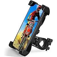 TBONEEY Soporte Celular Bicicleta, Soporte Movil Moto Universal 360°Rotación Anti Vibración Porta Telefono Motocicleta…