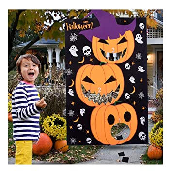 Excellent Max Fun Diy Halloween Bean Bag Toss Games With 3 Bean Bags For Kids Party Favor Onthecornerstone Fun Painted Chair Ideas Images Onthecornerstoneorg