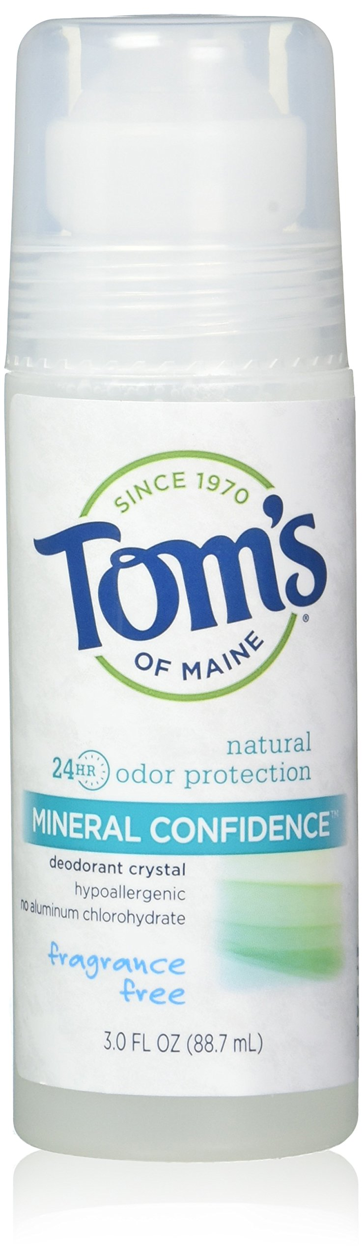 Tom's of Maine Natural Confidence Roll-On Deodorant, Fragrance-Free, 3 Ounce, (Pack of 6) by Tom's of Maine