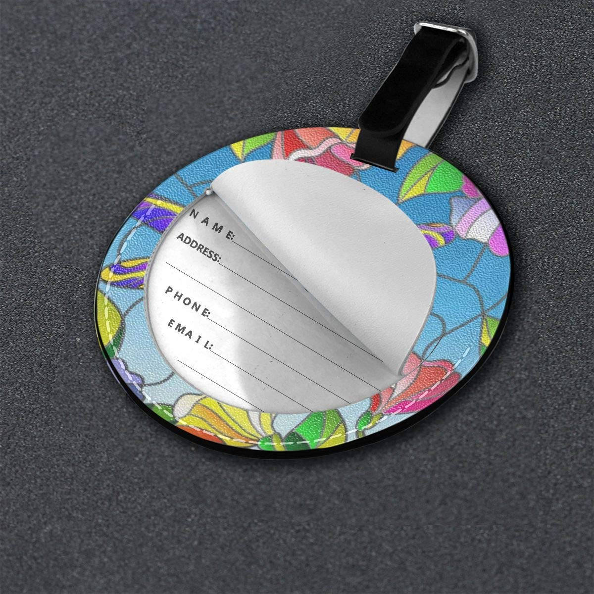 Luggage Tags Butterflies And Daisies Travel Accessories Baggage Name Tags